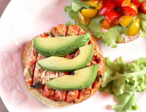 Southwest Hatch Chile Salmon Burgers