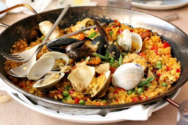 Seafood Paella for Two The Drake Oklahoma City OKC