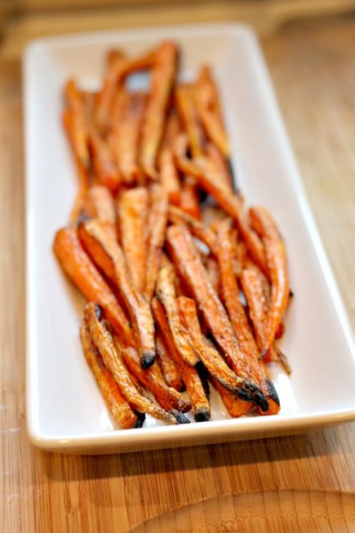 roasted carrots platter