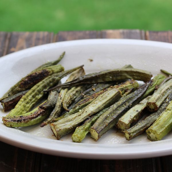 How to roast grill okra