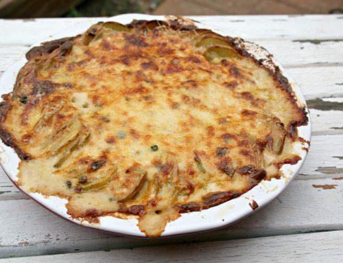 Green Chile Au Gratin Potatoes
