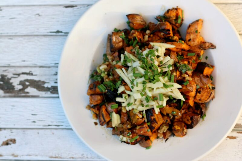 Geoffrey Zakarians grilled sweet potato salad